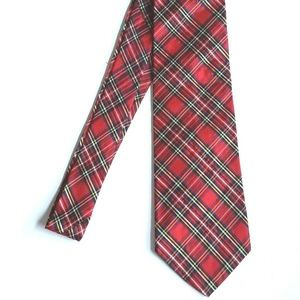 Giromy Samoni Necktie Plaid Red Organdy Silk